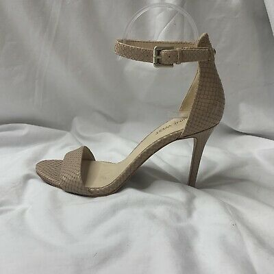 AU32 • Buy Nine West Heels Size 7.5 Beige Leather Strappy Snake Print Stiletto 'Mana'