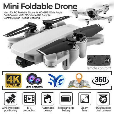 AU149.94 • Buy 4K Drones 5G With HD Camera GPS 4K Follow Me Wifi FPV Quadcopter Drone 6 Axes