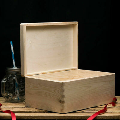 Plain Storage Box With Lid Wooden Storage Box Small Wooden Boxes  • 10.99£