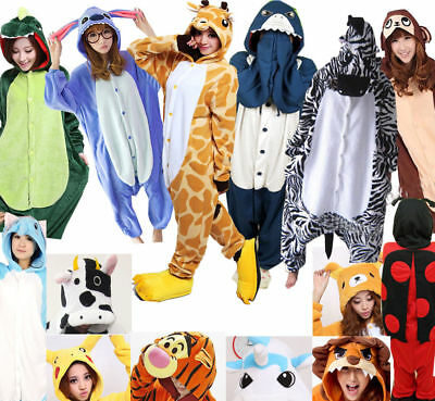 Adult Kigurumi Animal Cosplay Costume Pajamas Onesi7 Sleepwear Halloween Outfit • 14.99£