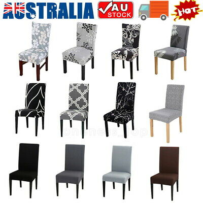 AU3.09 • Buy Stretch Chair Cover Seat Covers Spandex Lycra Washable Banquet Wedding Party NEW