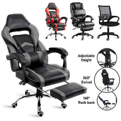 £82.99 • Buy Executive Racing Gaming Office Chair Swivel Recliner Computer Desk Chair Leather