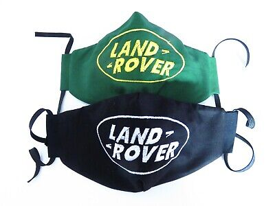 Land Rover Embroidered Fabric Face Mask 100% Cotton 3 Sizes (Gift Wrapped) • 14.95£