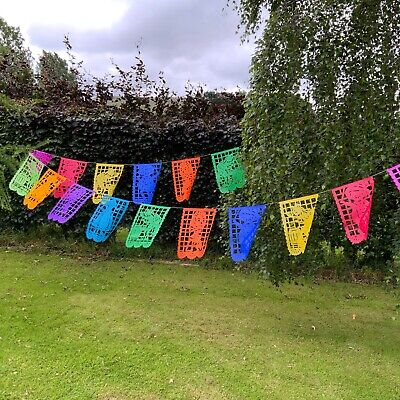 £5 • Buy Mexican Paper Picado Day Of The Dead Colour Party Decoration.