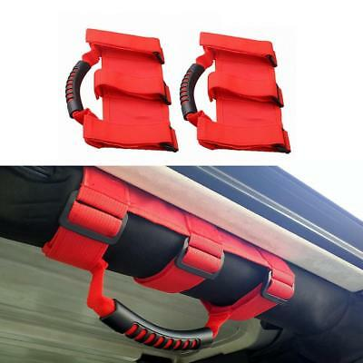 AU22.49 • Buy 2pcs Red Grab Handles Grip Handle For Jeep Wrangler YJ TJ JK JKU Sports Sahara
