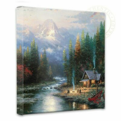 £70.09 • Buy Thomas Kinkade End Of A Perfect Day II 14 X 14 Gallery Wrapped Canvas