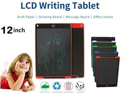 12'' LCD Tablet Drawing Writing Board Children Notepad EWriter Digital Graphic  • 8.99£