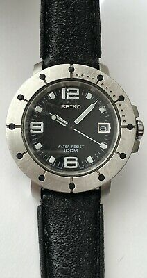 $ CDN150 • Buy Vintage Seiko 7N42-6139 Water Resistant 100 Meters Black Dial Japan Quartz RARE