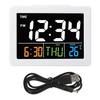 Digital Projection Alarm Clock LED With Temperature Weather Station LCD Display • 10.88£