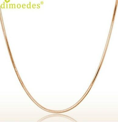 S925 Stamped Rose Gold Plated Snake Chain Necklaces 45cms. Manufacture Italy  • 3.99£