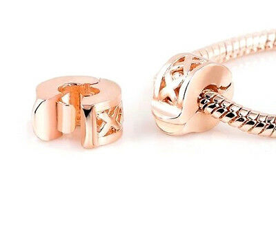 Buy 1 Get 1 Free Rose Gold Plated Cross Clip Stopper Charm Bead For Bracelet  • 6.49£