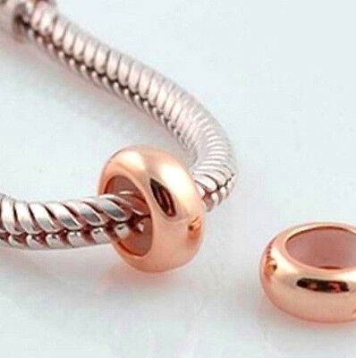 Buy 1 Get 1 Free ! Rose Gold Plated Rubber Stopper Charm Bead For Bracelet  • 3.99£