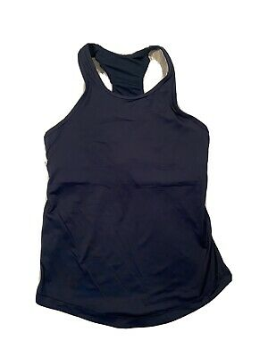 $ CDN39.62 • Buy LULULEMON Women's Tank Top Size 10 Athletic Built-in Bra Teal Racer Back