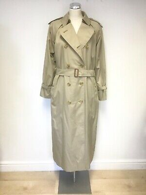 Immaculate Burberry Honey  Beige Full Length Trench Coat Size 14 Ex Plus  • 300£