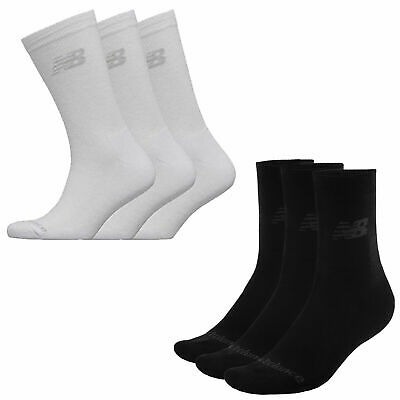 3 Pack Unisex New Balance Knitted Logo Soft Crew Socks Sizes From 3 To 12 SALE • 7.99£