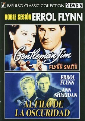 GENTLEMAN JIM / EDGE OF DARKNESS (2 DVD Import) Errol Flynn UK COMPATIBLE • 19.99£