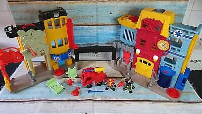 Imaginext Rescue City Fire & Bank Playset - Sound Effects • 12.99£
