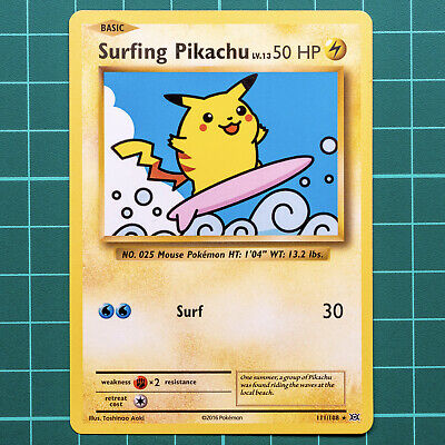 AU14.95 • Buy Pokemon Card - SURFING PIKACHU -  Secret Rare XY Evolutions 111/108 * MINT / NM