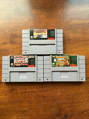$ CDN39.55 • Buy Lot Of 3 Authentic Super Nintendo Entertainment System SNES Games Cartridges