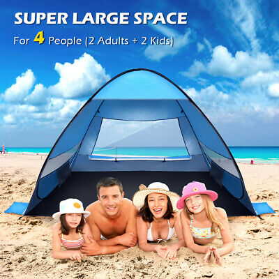 AU46.69 • Buy Waterproof Tent 3-4 Person Man Camping Dome Tent Pop Up Hiking Shelter Beach AU