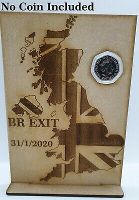 Brexit 50p Coin Stand Holder Exit EU 50 Pence Display No Coin Included  • 6£