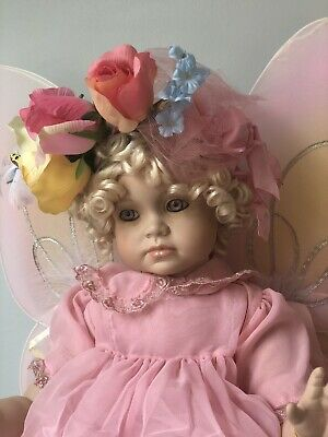 """NIB Porcelain 18"""" Doll Hannah By Lee Dunsmore For Masterpiece Galleries • 51.21£"""