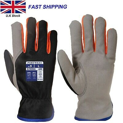 £4.88 • Buy Cold Protection Portwest Winter Fleece Lined Thermal Driver Work Gloves A280 CE