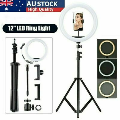 AU37.99 • Buy 12'' LED Ring Light Dimmable Lighting Kit Phone Selfie Tripod Stand Lamp Live AU