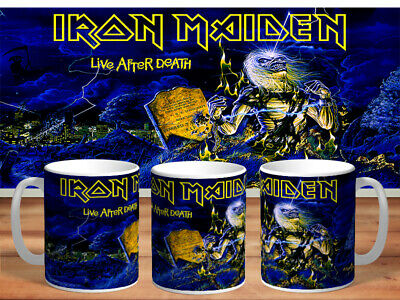 IRON MAIDEN 11oz MUGS - VARIOUS DESIGNS - PERFECT GIFT -34 • 7.60£