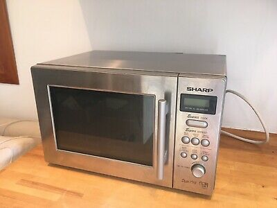 Sharp Stainless Steel Table Top Microwave VGC • 10£
