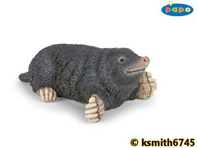 Papo SMALL MOLE Solid Plastic Toy Wild Zoo Woodland Burrowing Animal * NEW *💥 • 5.25£