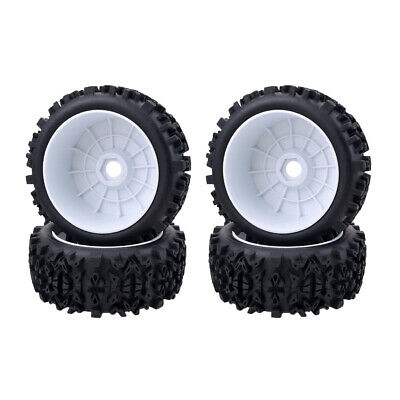 1/8 Scale Car  Rubber Tires & Wheel Rim Model For RC On-Road Buggy Car • 18.57£