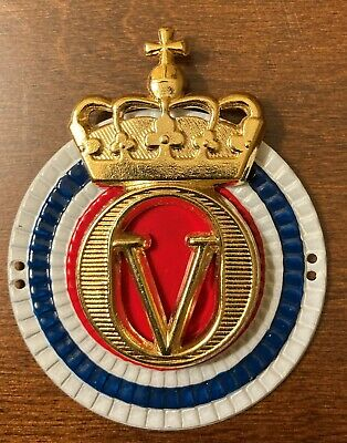 Norwegian Military Army Royal Guard Hat Badge King Olav V • 11.50£