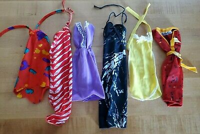 $ CDN20 • Buy Vintage Barbie Doll Lot Of 6 Cool Retro 1980s Dresses & Outfits! #2
