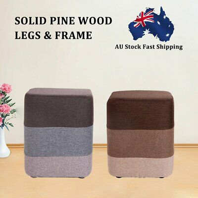 AU18.90 • Buy New Foot Stool Fabric Ottoman Pouffe Footstools Rest Seat Wooden