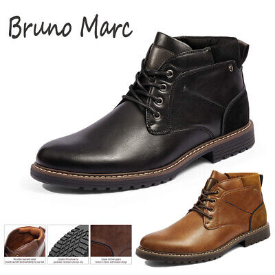 $33.29 • Buy Bruno Marc Men's Chukka Dress Boots Casual Lace Up Plain Toe Durable TPR Shoes