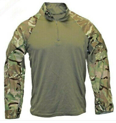 GENUINE BRITISH ARMY MTP GREEN UNDER ARMOUR COMBAT SHIRT Size Large • 10£