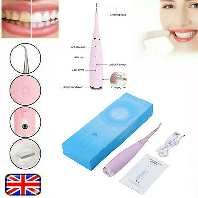 Electric Sonic Dental Scaler Tartar Calculus Plaque Remover Teeth Stains Cleaner • 9.19£