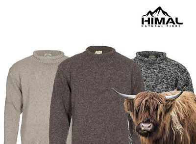 Himal Yak Wool Roll-Neck Jumper 100% Tibetan Yak Wool, Thick And Warm Turtleneck • 59£
