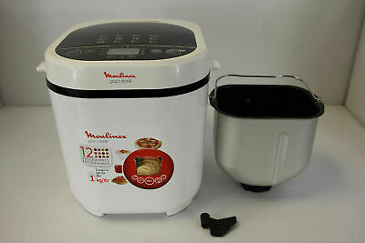 View Details Moulinex Bread Maker With Programmes, Plastic, 31 X 29 X 29 Cm One Size White • 99.99£