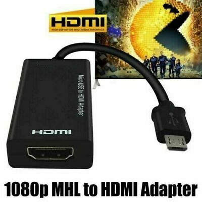 $ CDN8.57 • Buy Micro USB To HDMI Cable MHL Adapter 1080P HD TV For Samsung Android Phone UK
