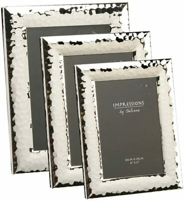 £14.99 • Buy Juliana Silver Shiny Hammered Picture Photo Frame - 4 X6  5 X7  6''x8'' 8 X10