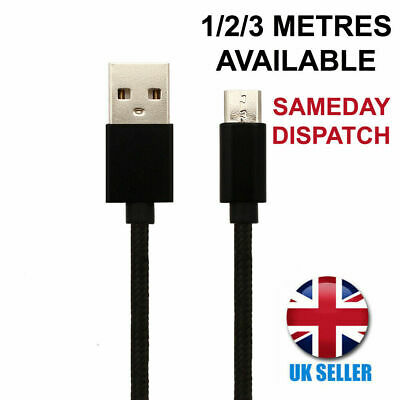 $ CDN4.39 • Buy For Samsung Galaxy S7 Edge Black Charger Cable Micro USB Charging Lead 1M 2M 3M