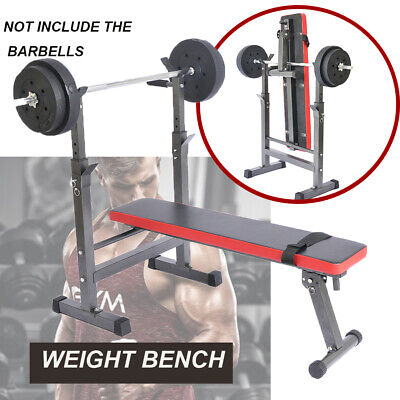 Folding Flat Weight Lifting Bench Home Exercise Fitness Machine Muscle Training • 76.89£