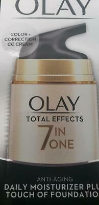 AU18.23 • Buy Olay Total Effects 7-In-1 Anti-Aging Daily Moisturizer PLUS Touch Of Foundation
