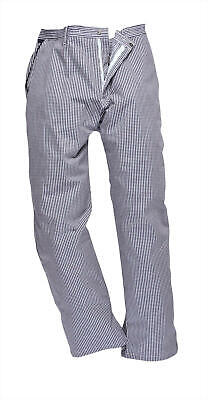 £6.99 • Buy Unisex Blue Check Chef Trousers – 2XL