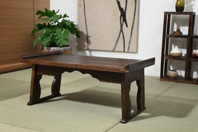 Coffee Table Wood Tray Folding Leg Vintage Antique Japanese Style Home Furniture • 143.77£