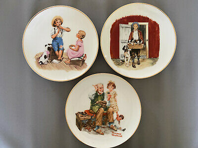 $ CDN49.99 • Buy Norman Rockwell Collectors Plate Set Of 3 The Cobbler Puppy Love Music Master