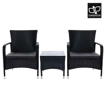 AU178.50 • Buy Gardeon Patio Furniture Outdoor Table And Chairs Bistro Set Wicker Rattan