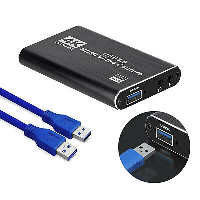 4K HDMI Capture Video Card USB 3.0 1080P Reliable Capture Game Card Recording • 31.99£